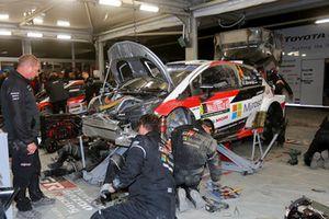 Ott Tänak, Martin Järveoja, Toyota Gazoo Racing WRT Toyota Yaris WRC, all'assistenza