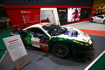 A Ferrari 488 on the Ferrari Challenge stand
