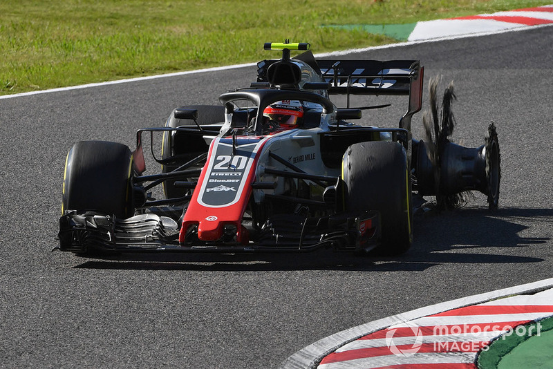 DNF: Kevin Magnussen, Haas F1 Team VF-18