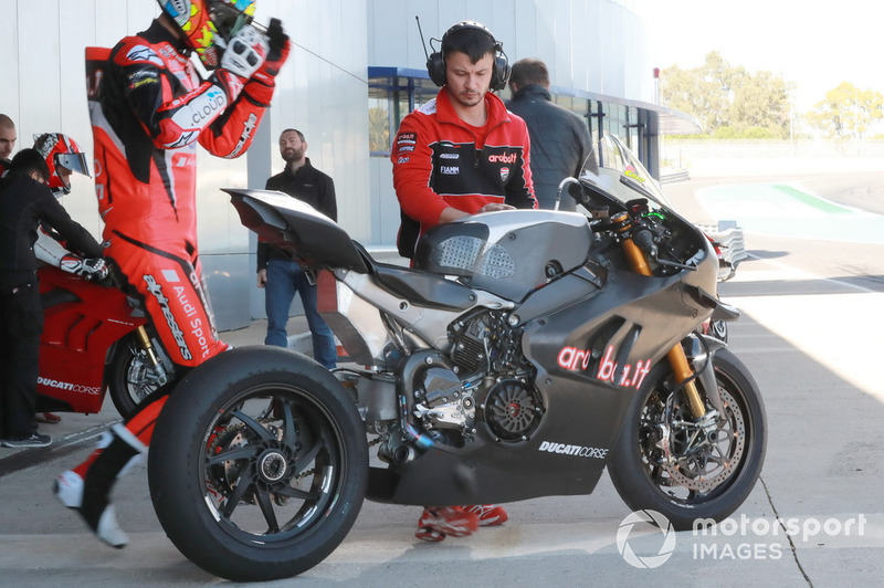 La moto di Chaz Davies, Aruba.it Racing-Ducati SBK Team