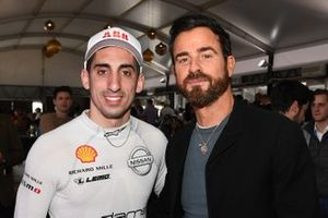 Sébastien Buemi, Nissan e.Dams, with actor Justin Theroux