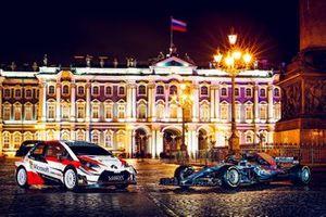 Toyota Yaris WRC und Mercedes F1 W09 EQ Power+