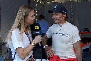 Emerson Fittipaldi with Julia Piquet