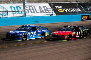 Martin Truex Jr., Furniture Row Racing, Toyota Camry Auto-Owners Insurance and Kurt Busch, Stewart-Haas Racing, Ford Fusion State Haas Automation/Monster Energy
