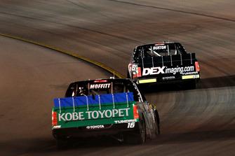 Harrison Burton, Kyle Busch Motorsports, Toyota Tundra DEX Imaging and Brett Moffitt, Hattori Racing Enterprises, Toyota Tundra KOBE