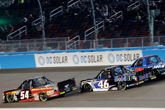 Riley Herbst, DGR-Crosley, Toyota Tundra Advance Auto Parts / Terrible Herbst / NOS / ORCA, Christian Eckes, Kyle Busch Motorsports, Toyota Tundra Mobil 1