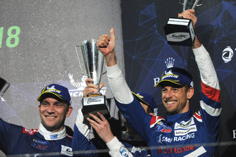 Third place overall Vitaly Petrov, Jenson Button, SMP Racing