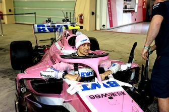 Esteban Ocon, Racing Point Force India VJM11 at Racing Point Force India F1 Team Photo