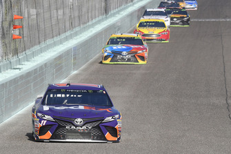 Denny Hamlin, Joe Gibbs Racing, Toyota Camry FedEx Express, Kyle Busch, Joe Gibbs Racing, Toyota Camry M&M's, Joey Logano, Team Penske, Ford Fusion Shell Pennzoil