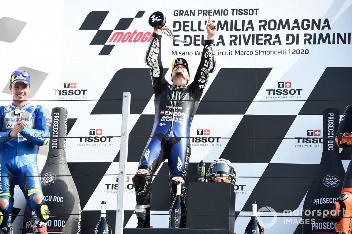 Podio: ganador Maverick Viñales, Yamaha Factory Racing