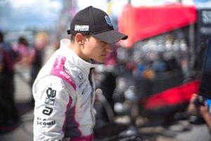 Alex Palou, Dale Coyne Racing with Team Goh HondaJosef Newgarden, Team Penske Chevrolet, podium