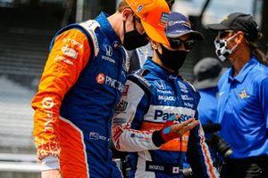 Takuma Sato, Rahal Letterman Lanigan Racing Honda and Scott Dixon, Chip Ganassi Racing Honda