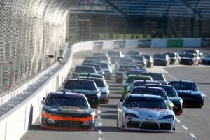 Harrison Burton, Joe Gibbs Racing, Toyota Supra DEX Imaging Noah Gragson, JR Motorsports, Chevrolet Camaro Bass Pro Shops/TrueTimber Camo