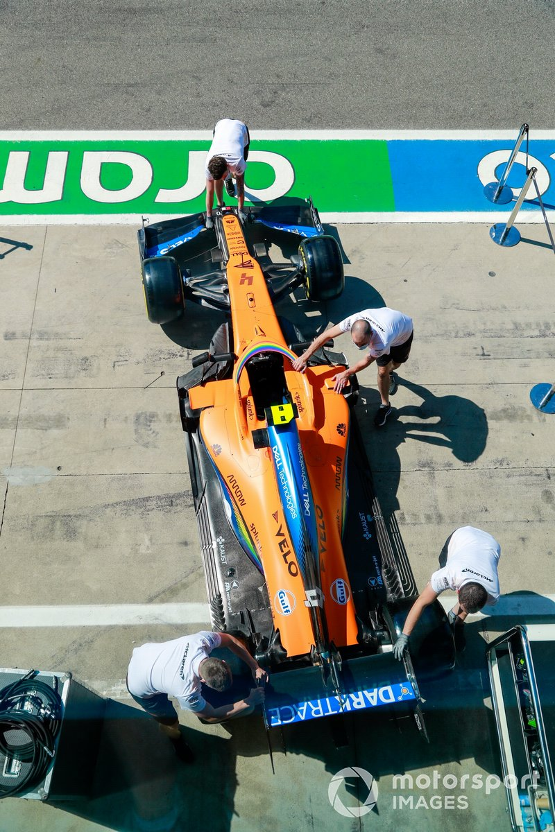 El monoplaza de Lando Norris, McLaren MCL35