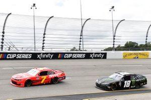 Justin Allgaier, JR Motorsports, Chevrolet Camaro BRANDT Riley Herbst, Joe Gibbs Racing, Toyota Supra Monster Energy