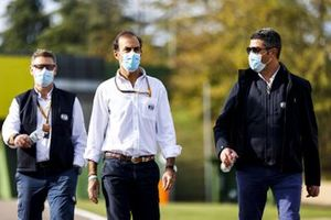 Michael Masi, Race Director, FIA, Emanuele Pirro, Driver Steward, FIA, and other FIA memebrs walk the circuit