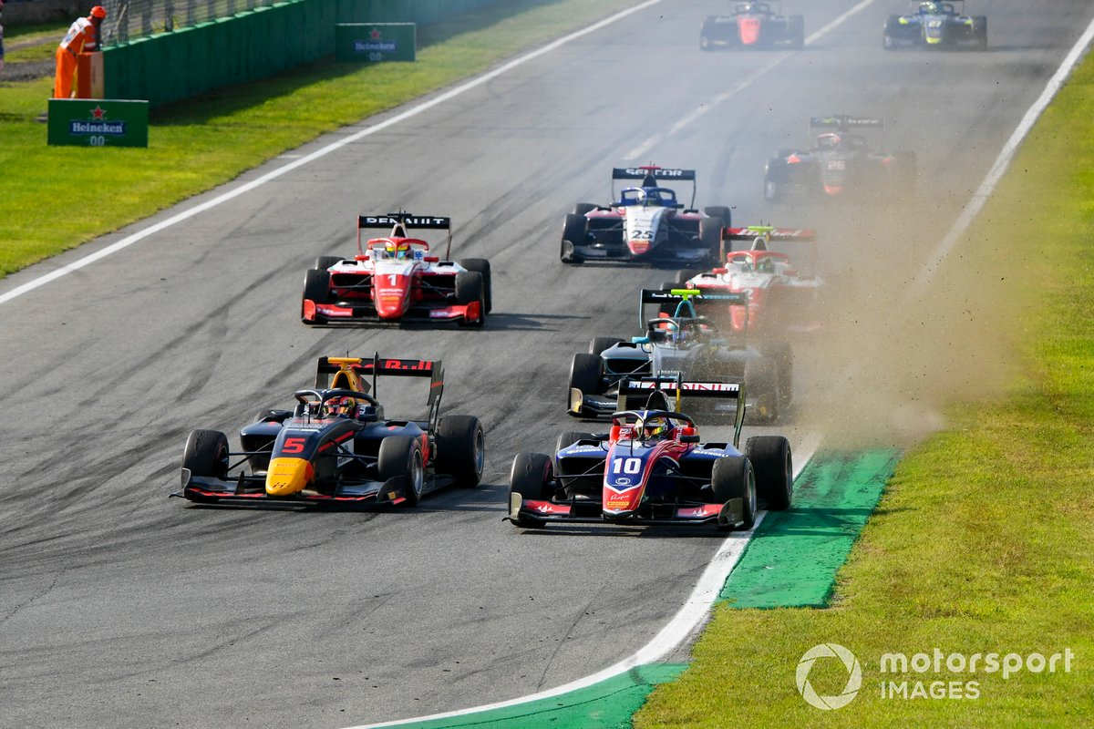 Liam Lawson, Hitech Grand Prix y Lirim Zendeli, Trident