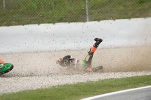 Davide Pizzoli, RBA Racing Team, crash