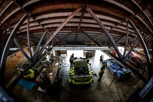 #12 AIM Vasser Sullivan Lexus RC-F GT3, GTD: Frankie Montecalvo, Townsend Bell, #14 AIM Vasser Sullivan Lexus RC-F GT3, GTD: Jack Hawksworth, Aaron Telitz, #57 Heinricher Racing w/MSR Curb-Agajanian Acura NSX GT3, GTD: Alvaro Parente, Misha Goikhberg