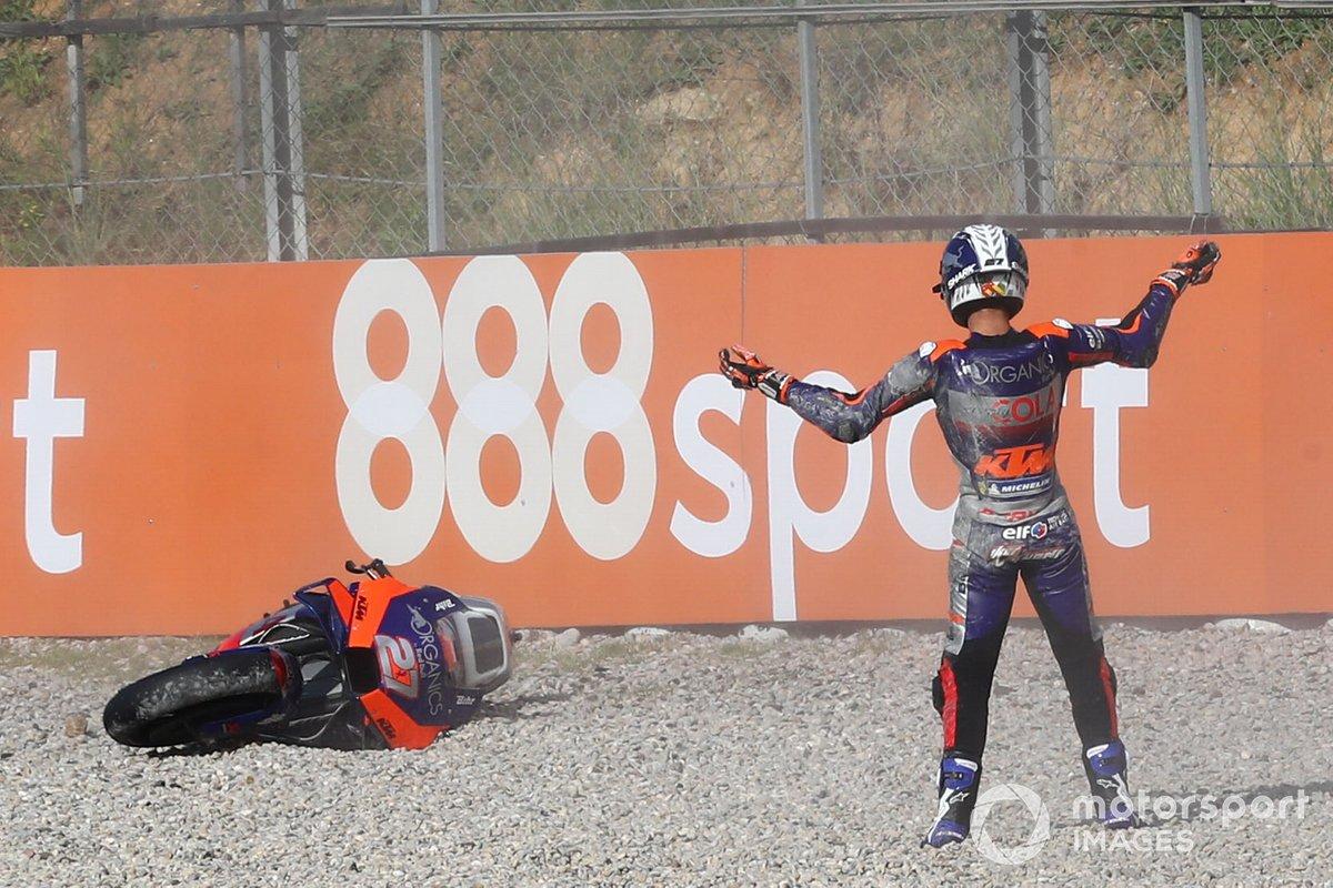 Iker Lecuona, Red Bull KTM Tech 3 dopo la caduta
