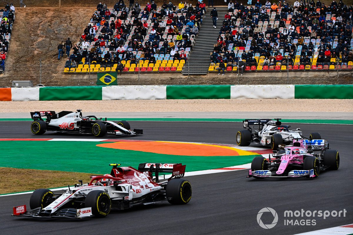 Antonio Giovinazzi, Alfa Romeo Racing C39, Sergio Pérez, Racing Point RP20, Daniil Kvyat, AlphaTauri AT01, Romain Grosjean, Haas VF-20