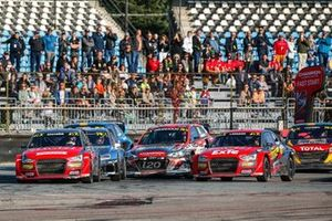 Rallycross-Action in Riga