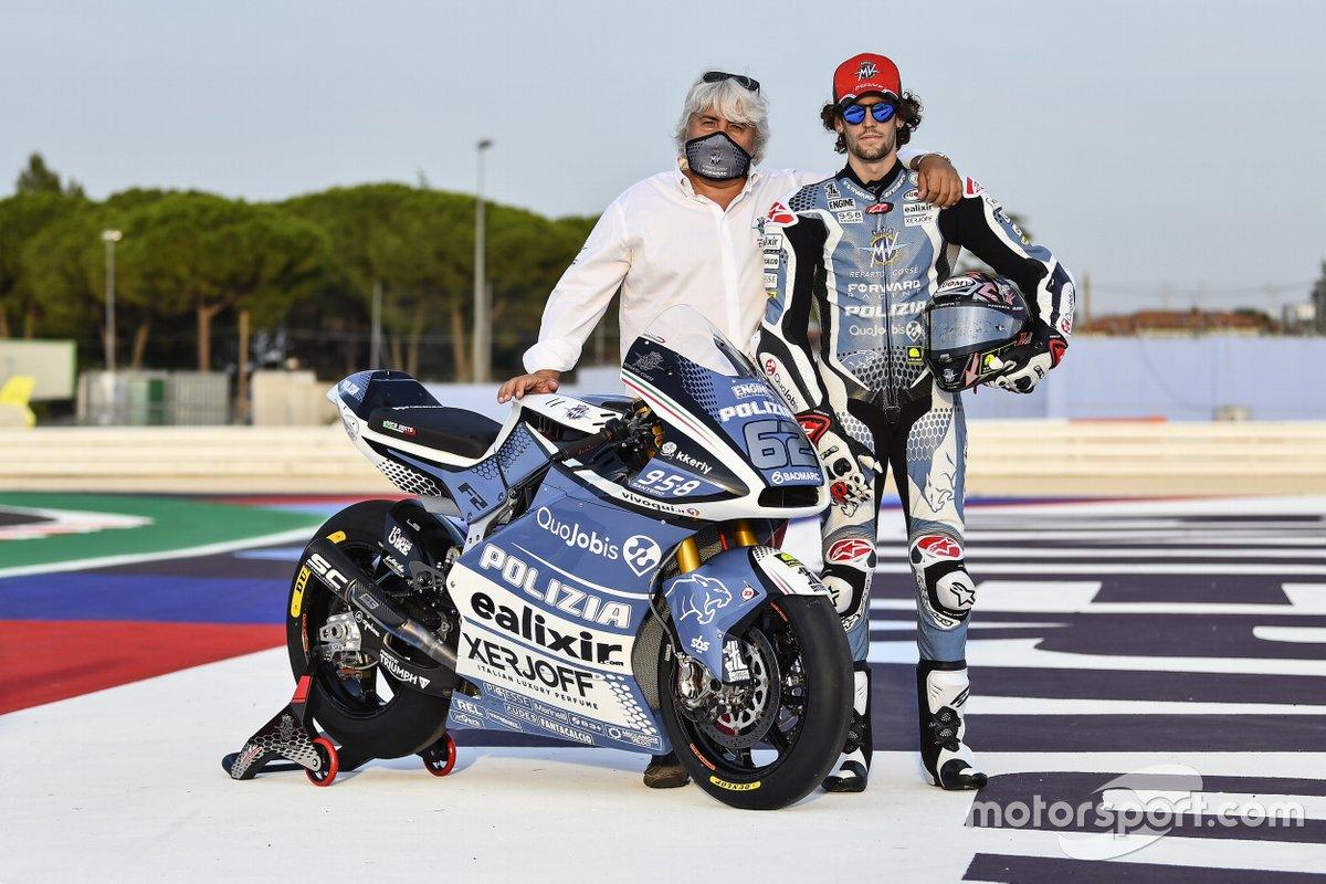 Simone Corsi, decoración especial de la moto Forward Racing para Misano