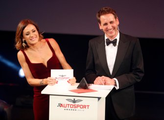 Natalie Pinkham, Sky TV, and Tom Clarkson on stage