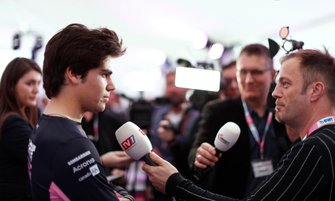 Lance Stroll, Racing Point parla ai media
