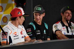 Marc Marquez, Repsol Honda Team, Fabio Quartararo, Petronas Yamaha SRT, Cal Crutchlow, Team LCR Honda