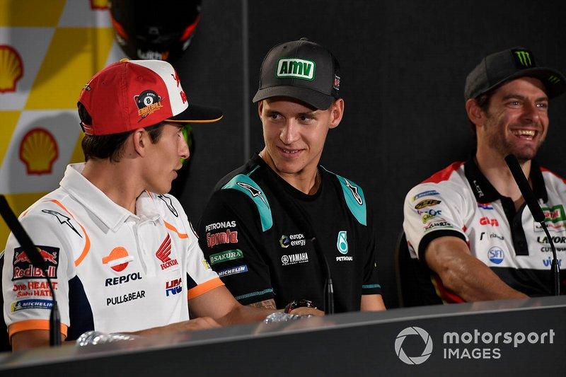 Марк Маркес, Repsol Honda Team, и Фабио Куартараро, Petronas Yamaha SRT