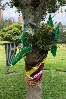 Grabstätte von Ayrton Senna auf dem Morumbi-Friedhof in Sao Paulo