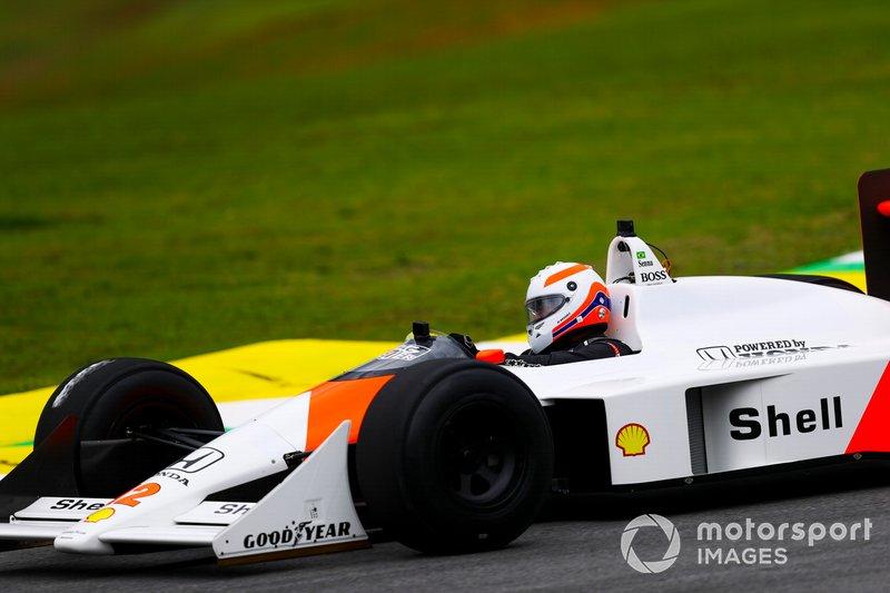 Martin Brundle, Sky TV driving the McLaren MP4/4