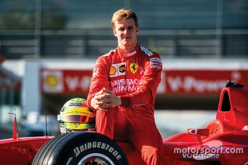 Mick Schumacher Ferrari F2002 testing