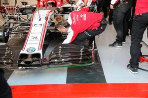 El alerón delantero del Alfa Romeo C39
