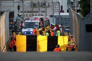 Abbruch nach Crash beim Motorrad-Grand-Prix 2019 von Macau
