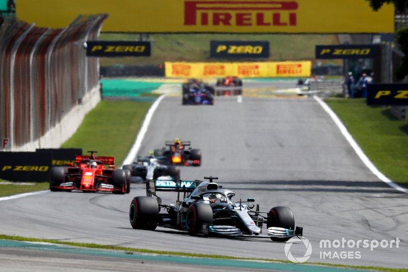 Hamilton lideró un gran premio por 147ª vez, todo un récord