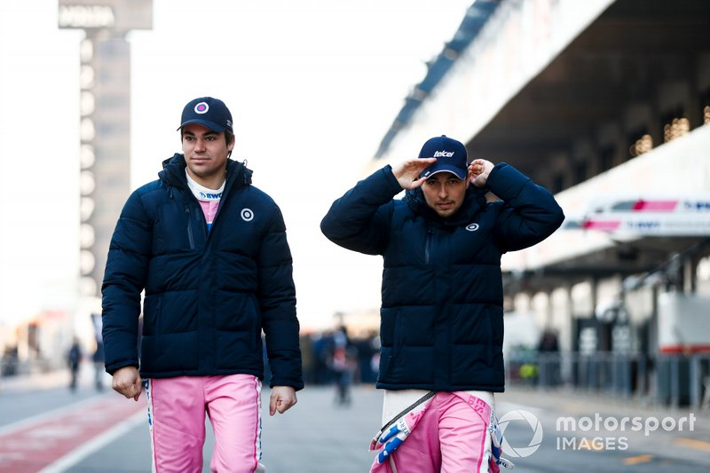 Lance Stroll, Racing Point and Sergio Perez, Racing Point