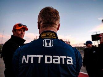 Felix Rosenqvist, Chip Ganassi Racing Honda, Scott Dixon, Chip Ganassi Racing Honda