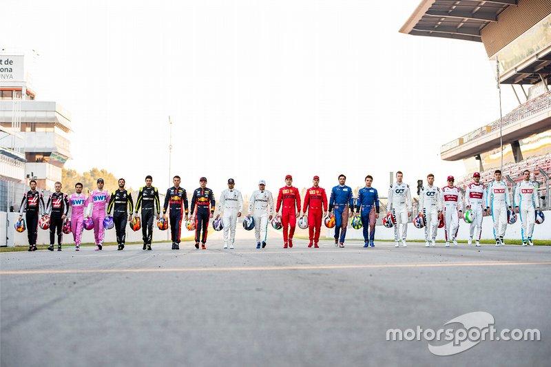 Les pilotes de la saison 2020 de Formule 1