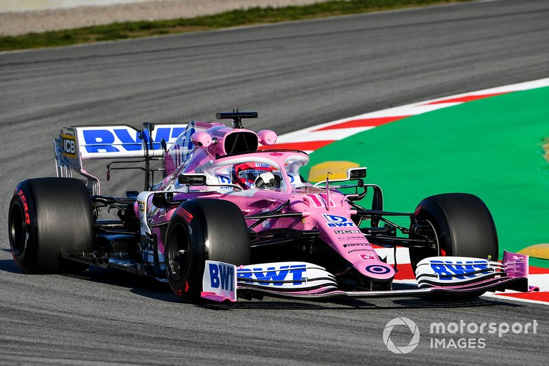 Sergio Perez au volant de la Racing Point RP20