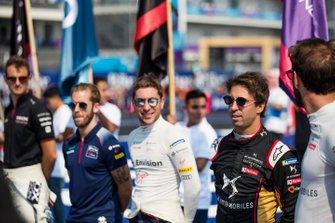 Sam Bird, Virgin Racing, Robin Frijns, Virgin Racing, Antonio Felix da Costa, DS Techeetah, Jean-Eric Vergne, DS Techeetah