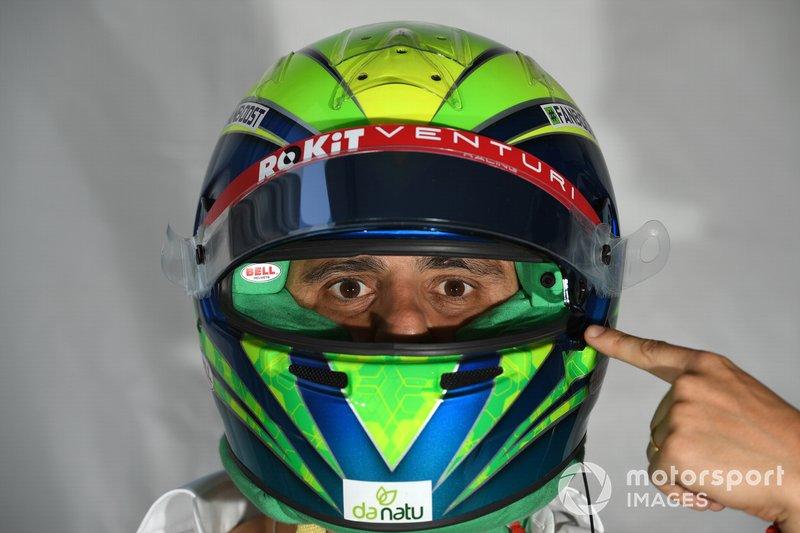 Felipe Massa, Venturi, con la cámara del casco