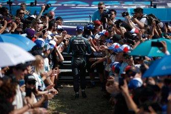 Mitch Evans, Jaguar Racing walks to the podium
