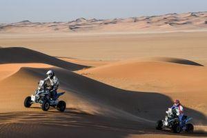 #265 Yamaha: Simon Vitse, #252 SMX Racing Yamaha: Alexandre Giroud