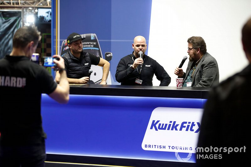 Matt James on the KwikFit BTCC stand