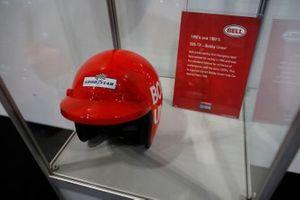 Bobby Unser's helmet on display