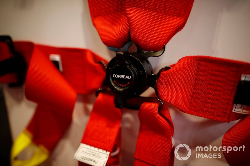 A Corbeau belt on display