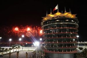 Feuerwerk am Bahrain International Circuit