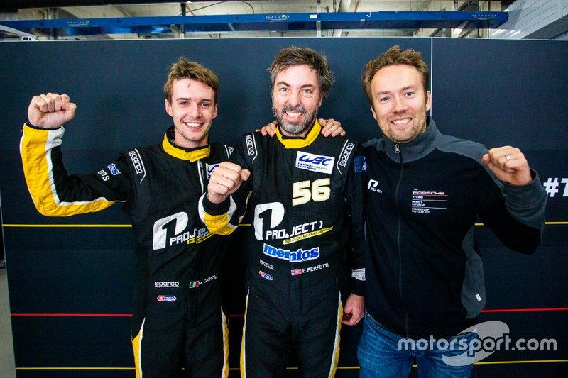 Polesitter GTE-AM, #56 Team Project 1 Porsche 911 RSR: Egidio Perfetti, Matteo Cairoli, David Heinemeier Hansson